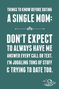 Quotes about dating single mothers