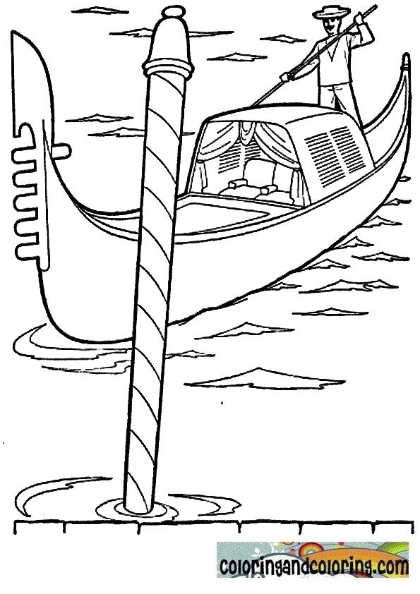 gondola coloring pages Five in