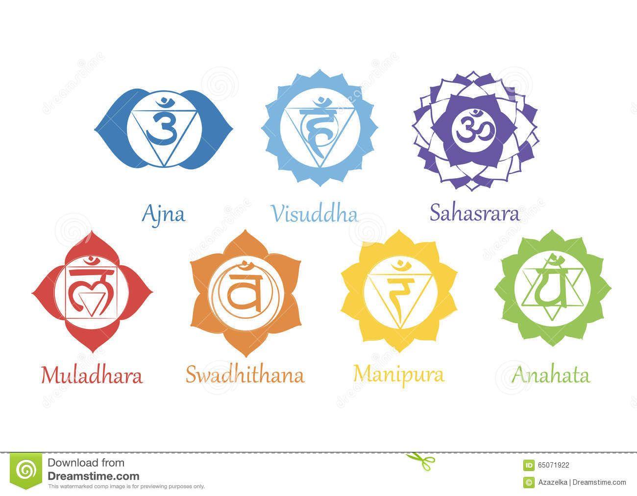 chakras-icons-concept-chakras-used-hinduism-buddhism ...