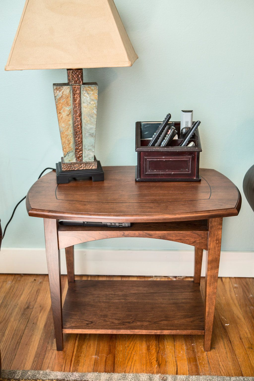 End table made with Cherry and Wenge inlay Woodworking endtable