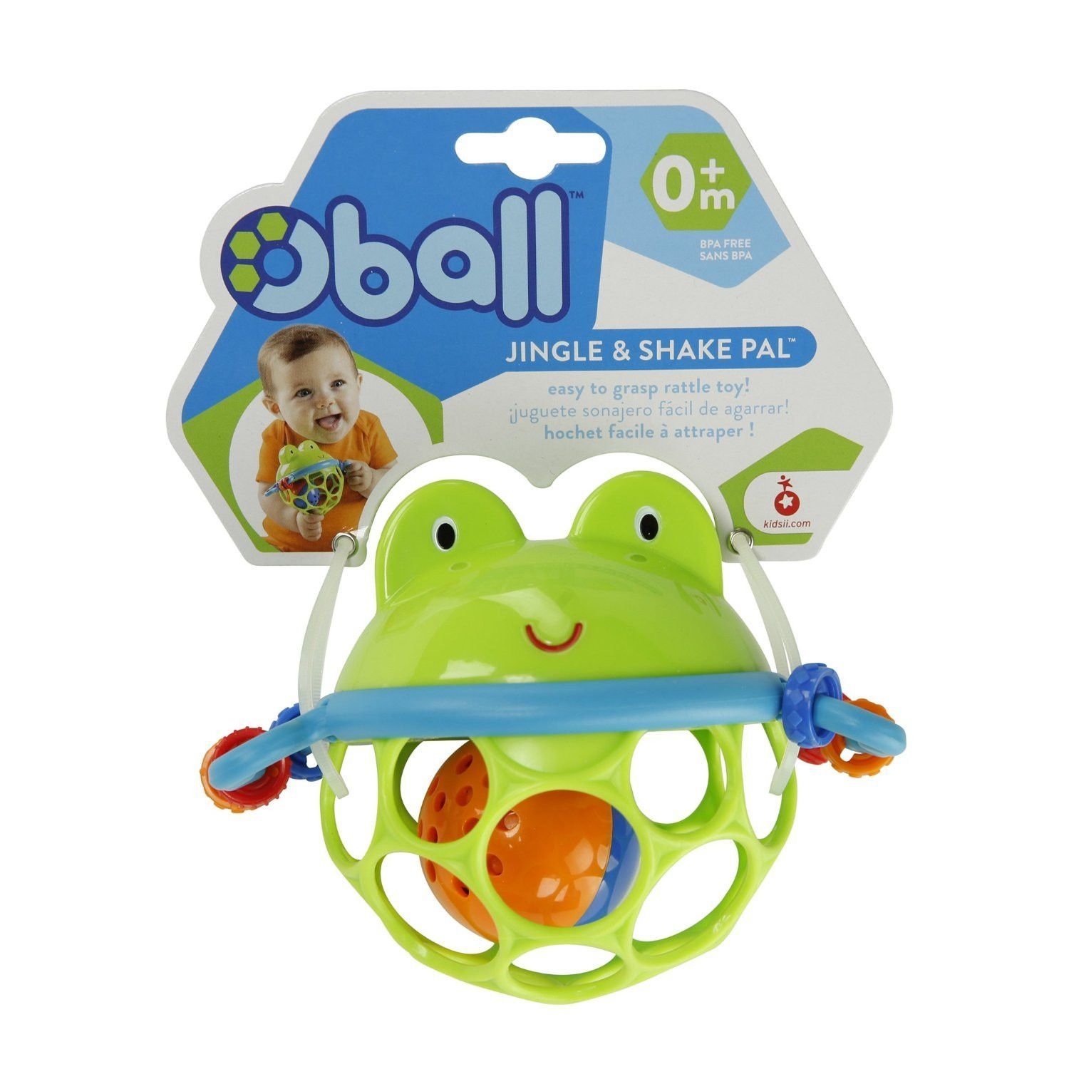 Oball Jingle and Shake Pal Frog Infant Developmental Toy