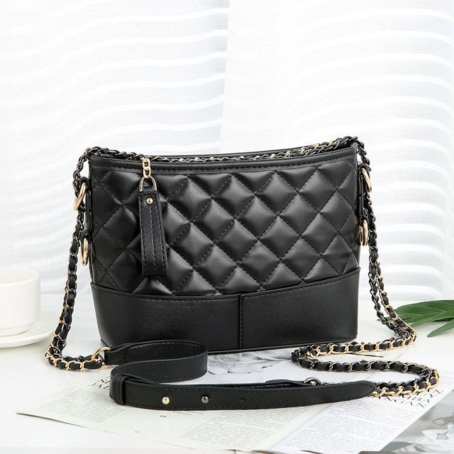Handbags women bag plaid shoulder bag chains bags high capacity tote bags #chainbags