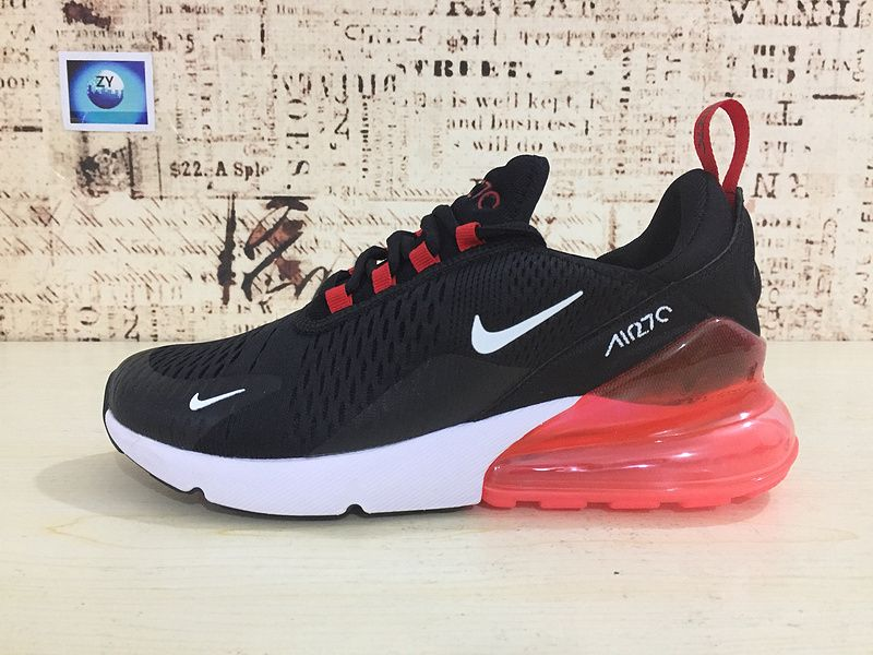 9050c47459aa Chaussures de mode Nike Air Max 270 Running Shoes Flyknit Black Noir White  blanc Orange 2018 Latest Styles AH8050-006 Youth Big Boys Shoes