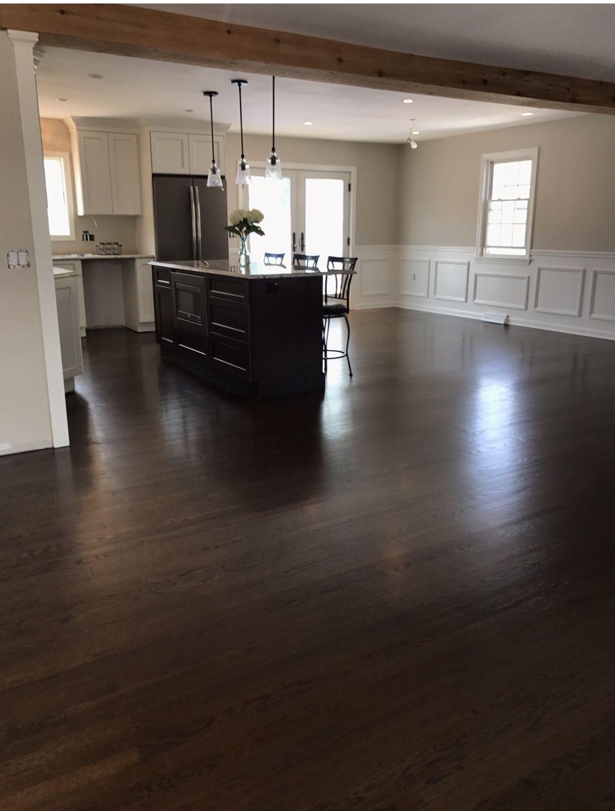 Best Palmerremodel Dark Floors Antique White Cabinets Dark 400 x 300