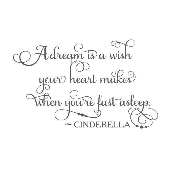 A Dream Is A Wish Your Heart Makes When You Re Fast Asleep