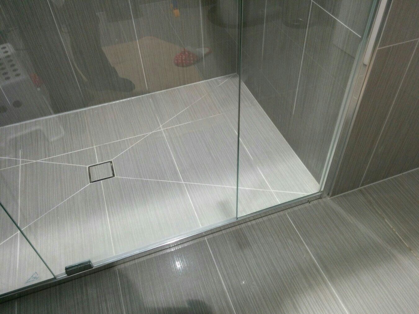 laying large floor tiles arond wastes - Google Search | Bathrooms ...