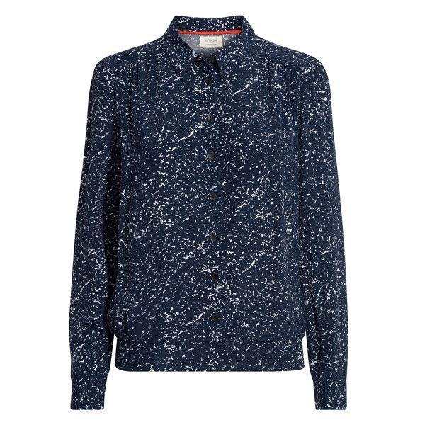 Nümph, Ronia Skjorte, Mørkeblå/Hvid