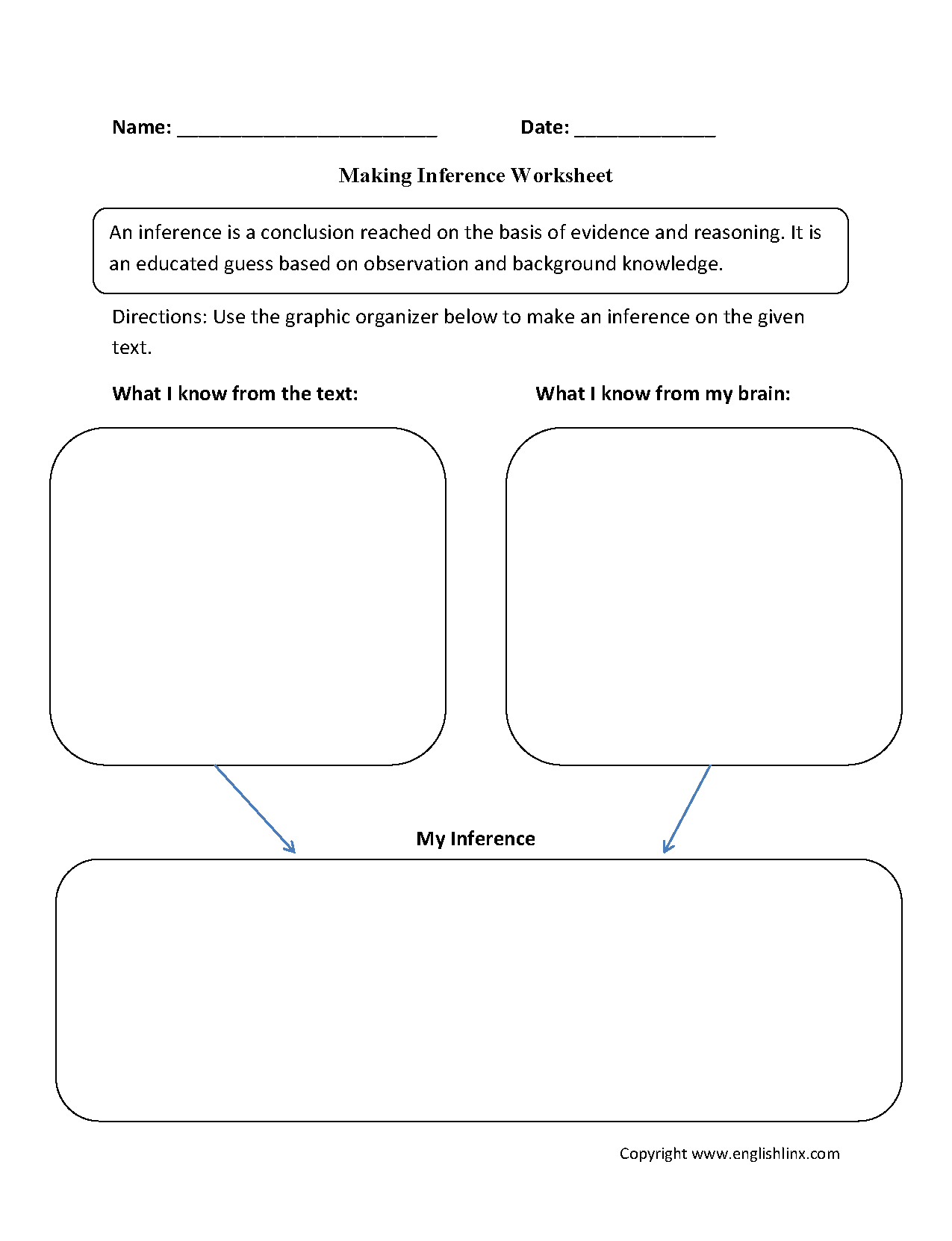 Making Inference Worksheet