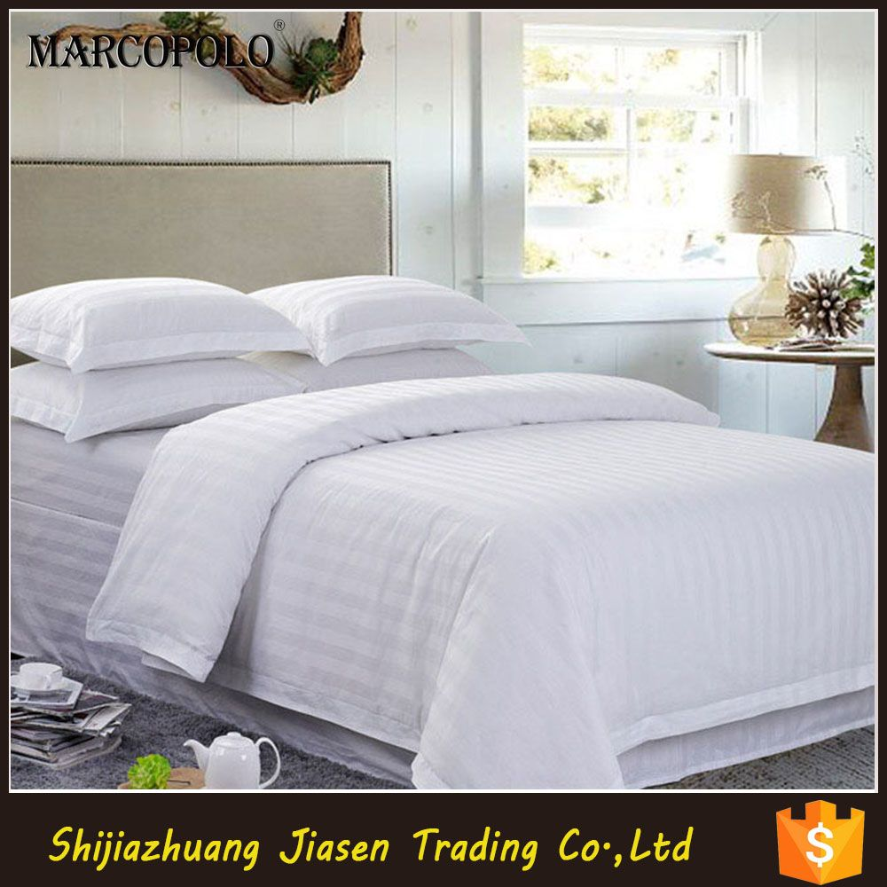 white hotel bed sheet with 100 cotton material bed linen