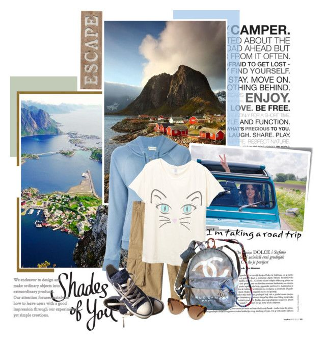 """""""Shades of You: Sunglass Hut Contest Entry: My Summer Road Trip"""" by frouwelinde ❤ liked on Polyvore featuring Post-It, Yves Saint Laurent, Chanel, Converse, Michael Kors, Pier 1 Imports and country"""