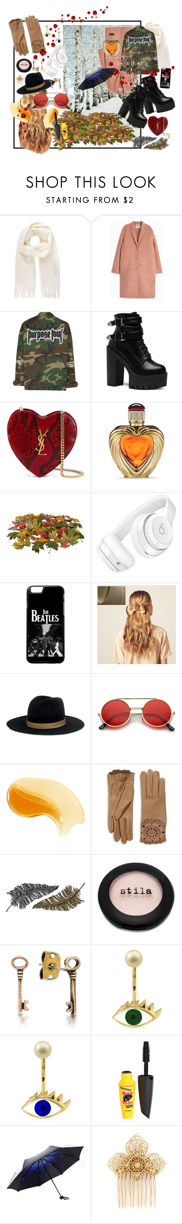 """""""It's All About the little things"""" by claire-marley on Polyvore featuring Vivienne Westwood, Acne Studios, Yves Saint Laurent, Victoria's Secret, Beats by Dr. Dre, Hershesons, Janessa Leone, Burberry, Paperself and Stila"""