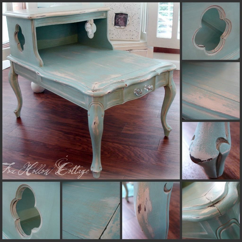 A little old telephone table I know of is going to get a makeover like THIS!!  @Kylie TonkinBreuer