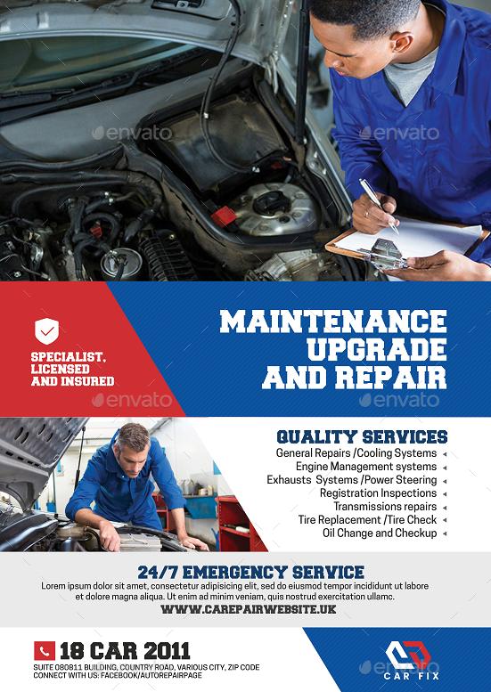 Car And Auto Mechanic Flyer Auto Car Flyer Mechanic Car Mechanic Transmission Repair Mechanic