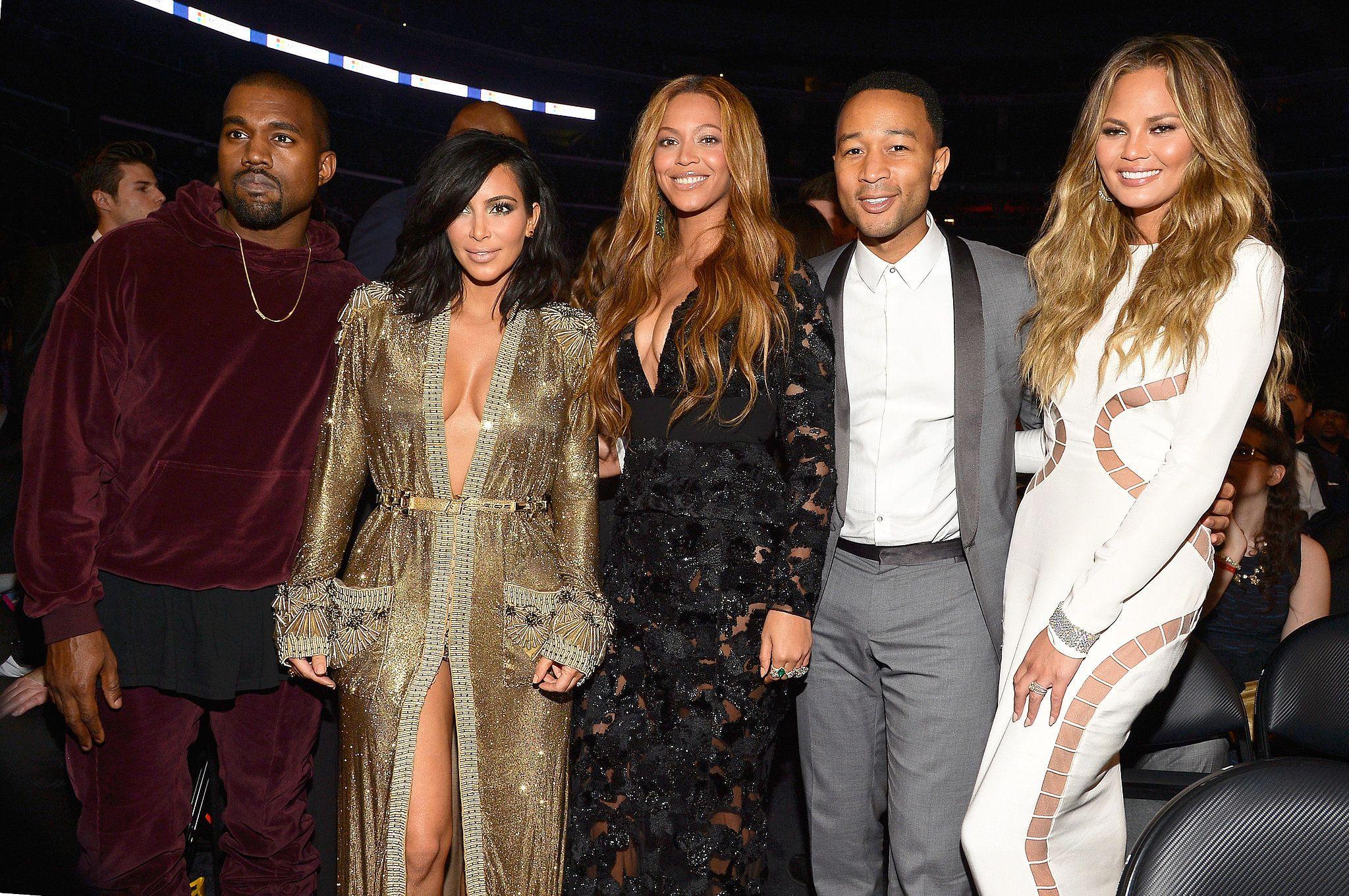 Kanye West Kim Kardashian Beyonce John Legend And Chrissy Teigen Red Carpet Hair Makeup Trends Natural Red Hair