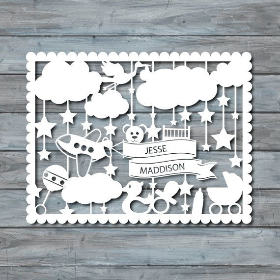 photograph about Paper Cutout Templates titled Child Paper lower Template - PDF Printable - Paper Chopping