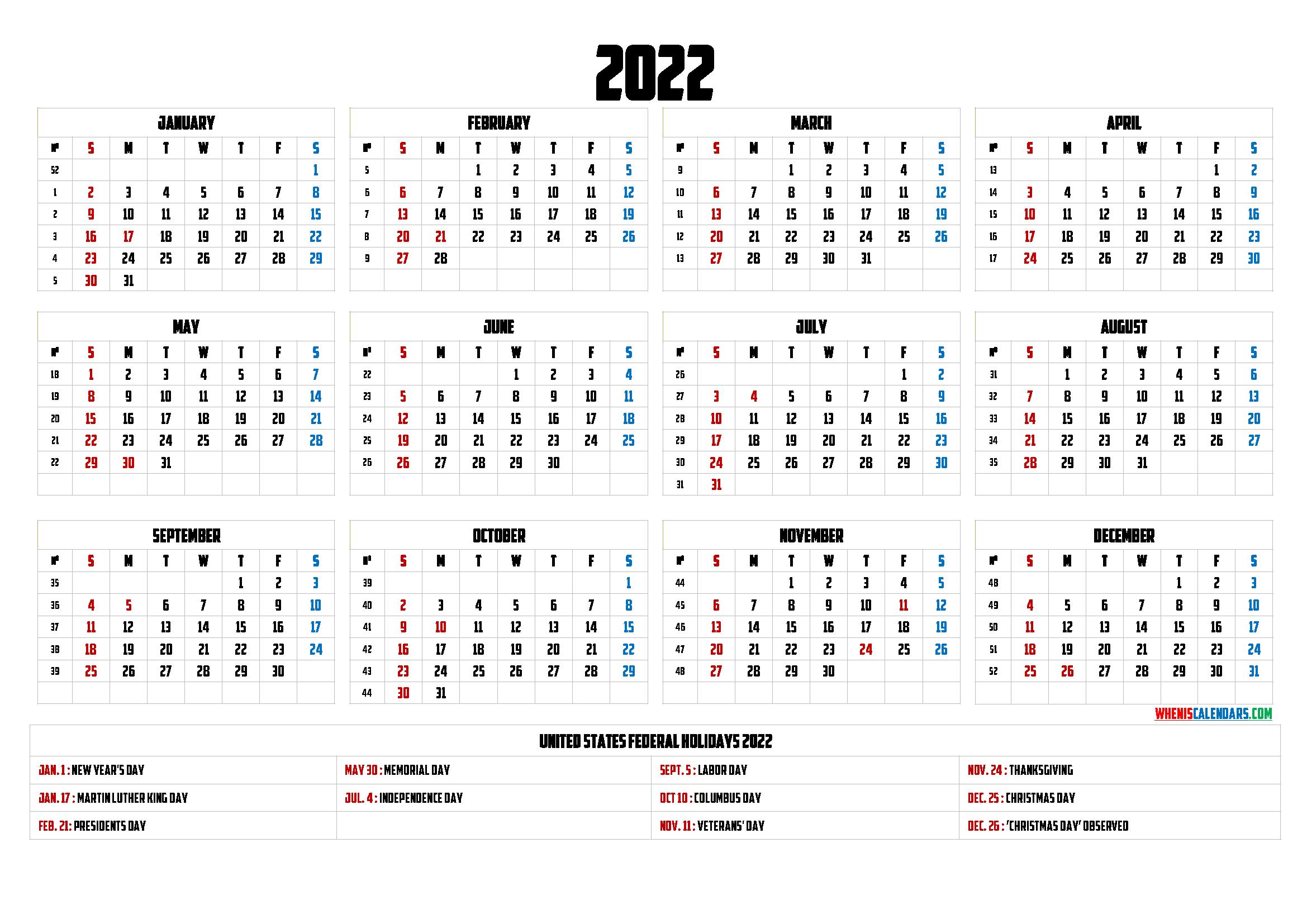Printable Summer Calendar 2022.Printable Calendar 2022 Pdf 6 Templates Yearly Calendar Template Printable Calendar Printable Calendar Template