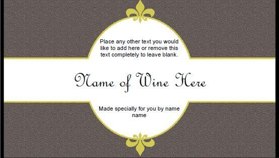 Generic Wine Label Template Tiquettes De Vin Pinterest Label