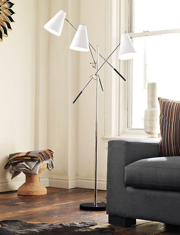Tri Arm Floor Lamp