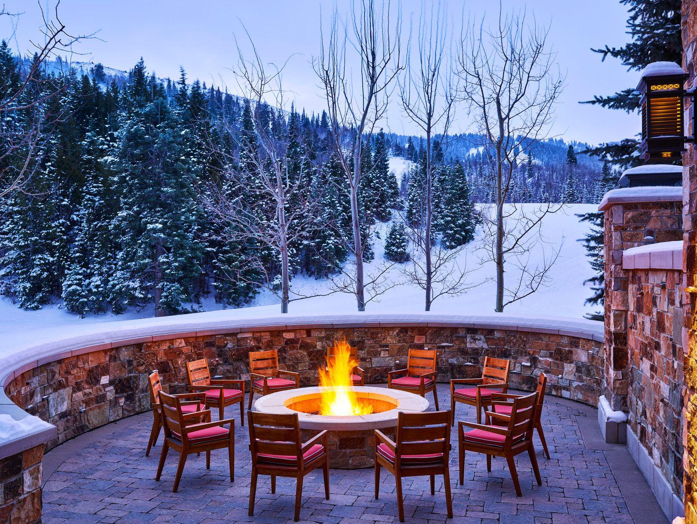 Best Kitchen Gallery: Firepit At The St Regis Deer Valley In Park City Ut Hotel Photos of Park City Mountain Resort Hotels  on rachelxblog.com
