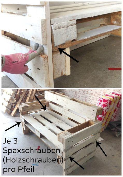 Möbel Aus Paletten Bauen Anleitung Gartenbank Pinterest