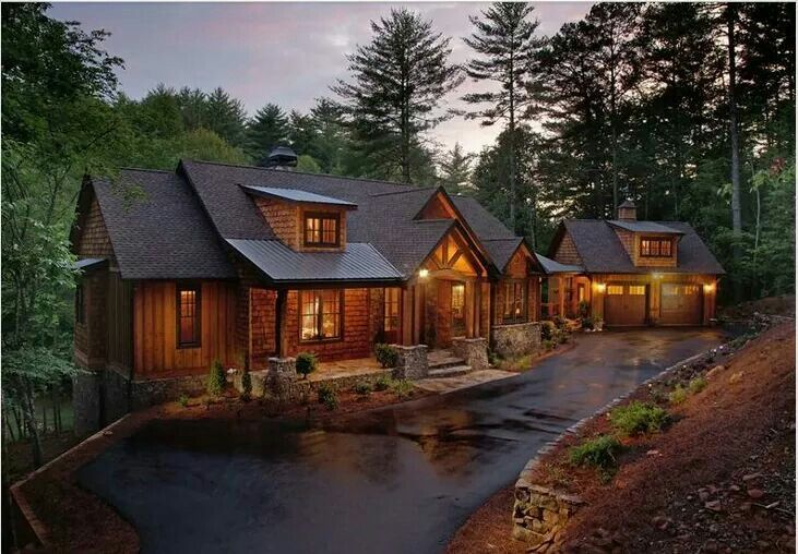 Rustic Home In The Woods Mountain House Plans Log Homes Floor Plans Ranch