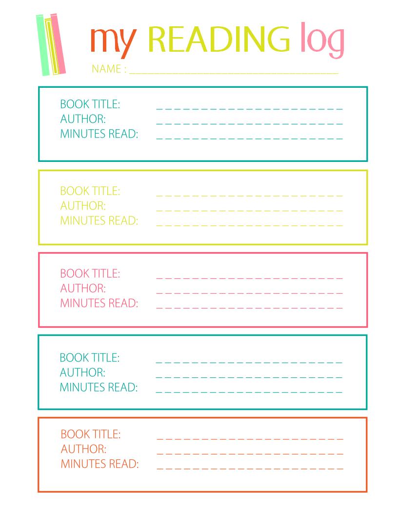 Printable Reading Log For Elementary Kids  Reading Logs Teaching