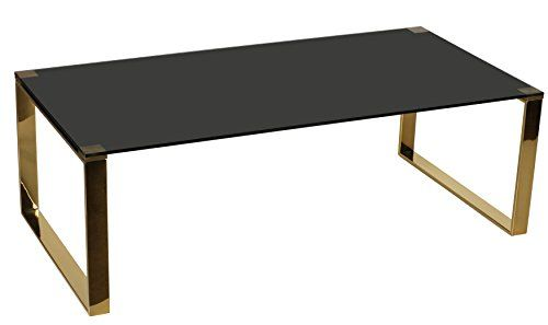 Cortesi Home Remini Coffee Table Gold Metal And Black Gl Https