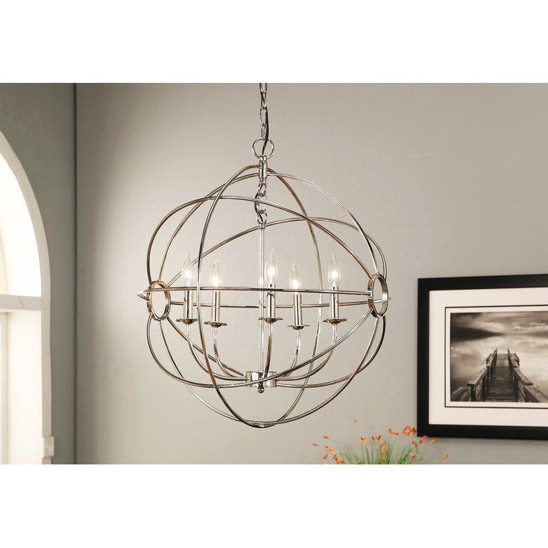 Ombret 5 Light Globe Chandelier Globe Chandelier Orb Chandelier