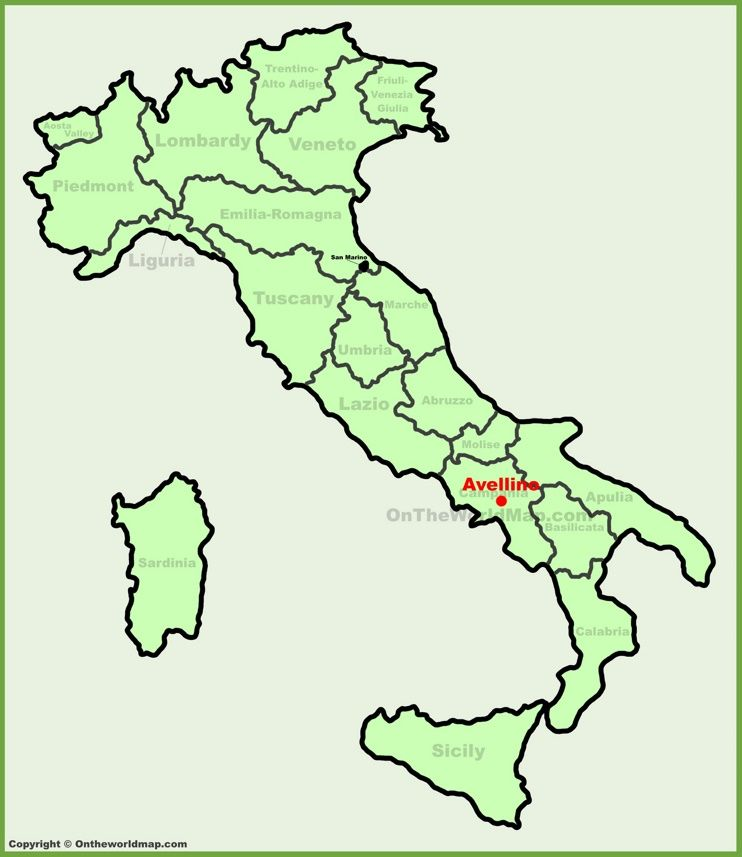 Avellino location on the Italy map Maps Pinterest Italy and City