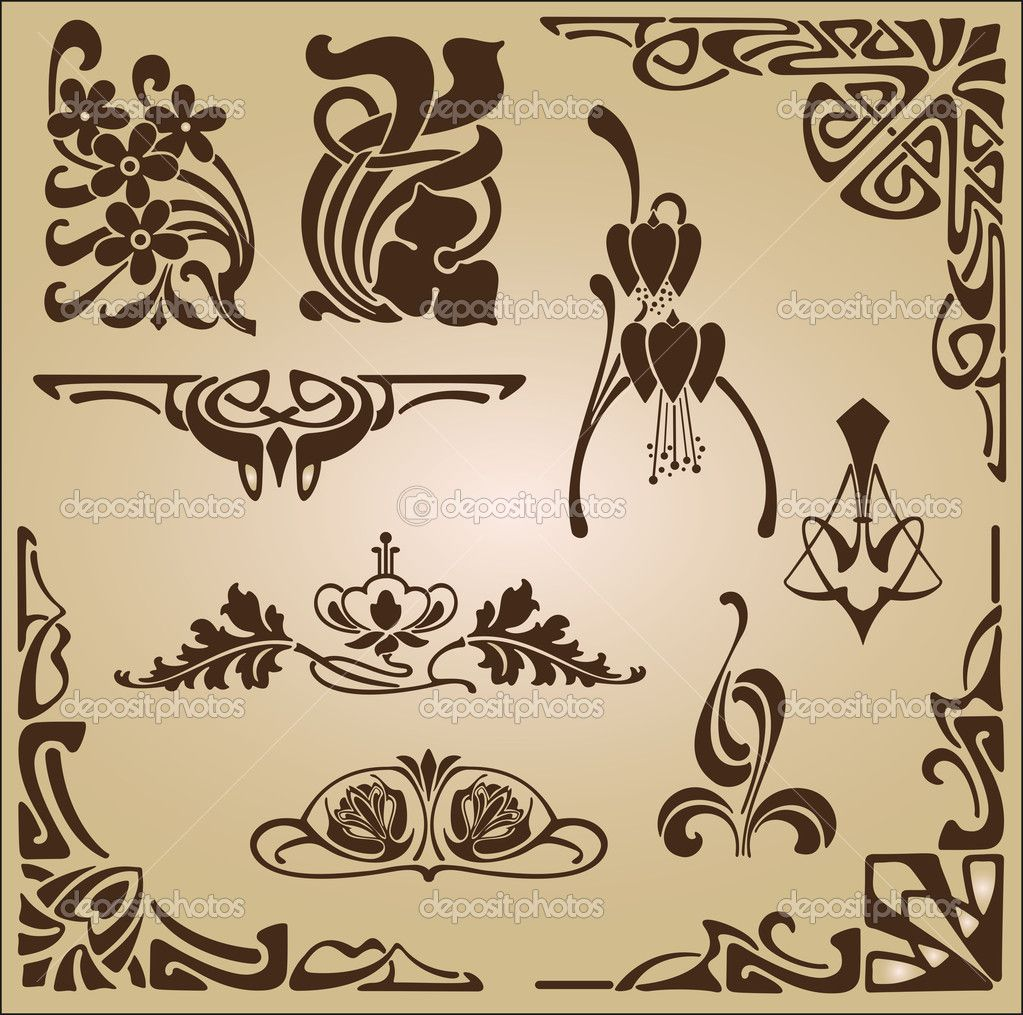 Art nouveau interior google pretra ivanje art deco for Ornamente jugendstil