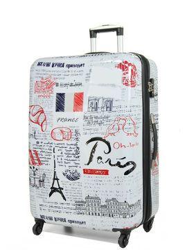 Fantasy Capital Noir Coque dure ABS Super L/éger avec film de protection amovible Cabin Suitcase 50 cm Bagage /à main avec 4 roues Approuv/é pour les compagnies a/ériennes comme Easyjet