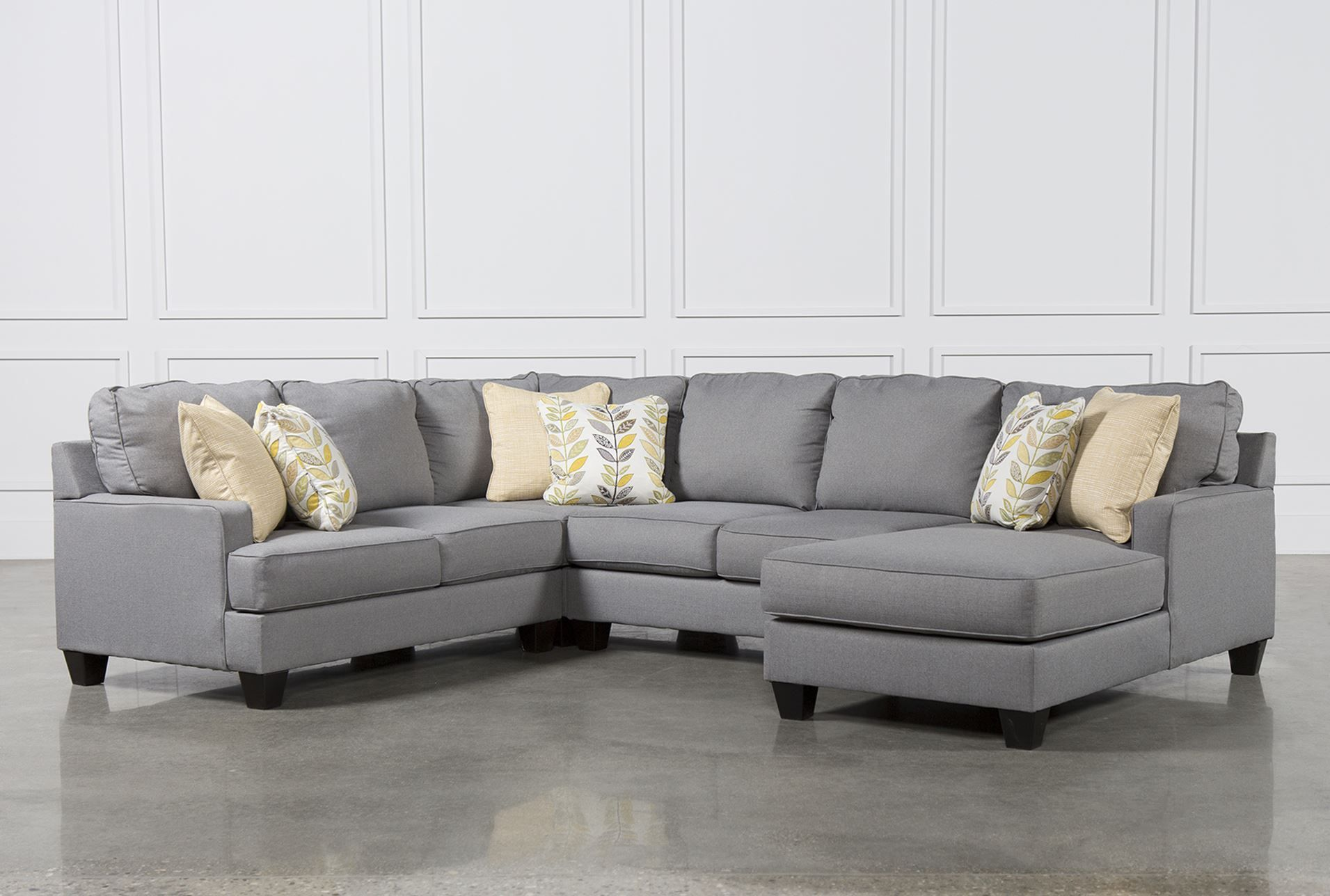 Chamberly 4 Piece Sectional W/Raf Chaise : 4 piece sectional sofa with chaise - Sectionals, Sofas & Couches