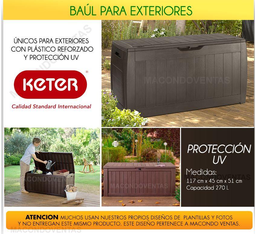 Baul plastico armario exterior caja deposito jardin balcon en mercadolibre patio - Baul de jardin ...