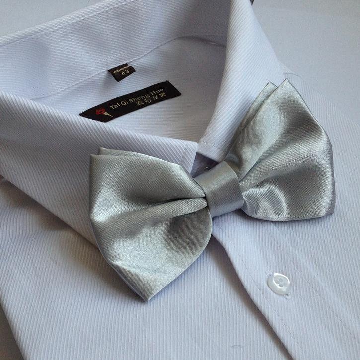 Solid Men's Bow Tie for man blue bowtie