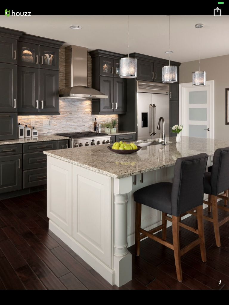 Two tone kitchen cabinets kitchen delight pinterest kitchens