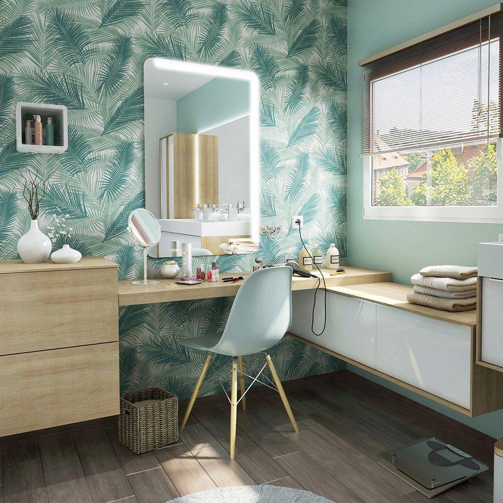 Leroy Merlin Papier Peint Salle De Bain et si on craquait pour une salle de bains naturelle