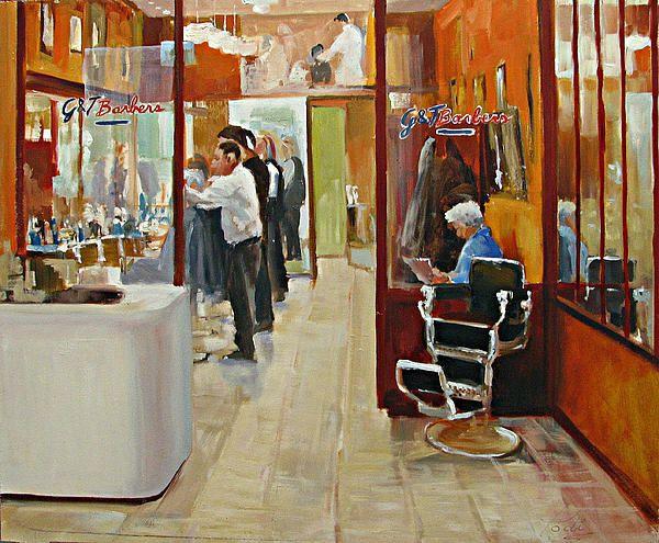 Barbershop painting