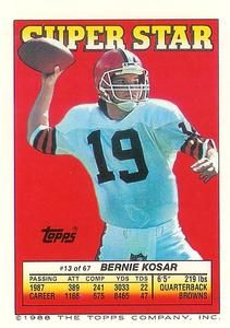 1988 Topps Sticker Backs 13 Bernie Kosar Front