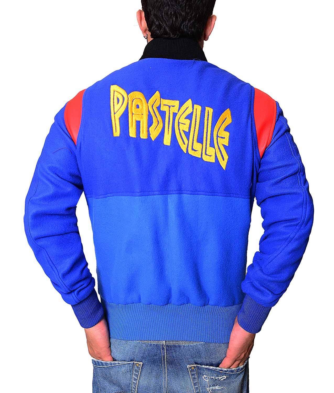 Kanye West Pastelle Rib Knitted Collar Varsity Jacket Varsity Jacket Kanye West Graphic Sweatshirt