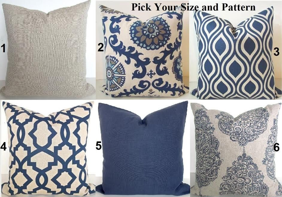 BLUE THROW Pillows Navy Blue Throw