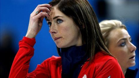 Great Britain's women curlers lost to Switzerland on Saturday to leave their semi-final hopes in the balance. Eve Muirhead's team edged South Korea 10-8 in the early session but then went down 8-6 to the Swiss.