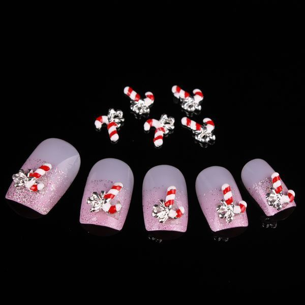 Newest Items Free Shipping Wholesale/ Nails Supply, 50 pcs 3D Alloy ...