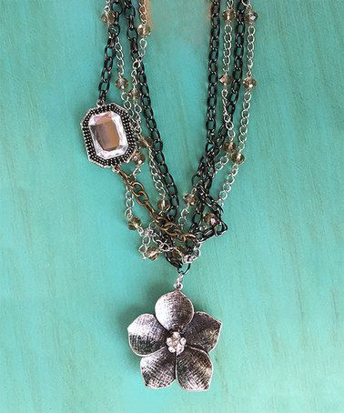 Another great find on #zulily! Tri-Tone Uptown Pendant Necklace #zulilyfinds