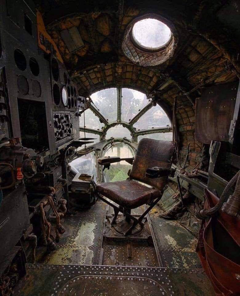 Navigator's Position On An Abandoned Soviet Bomber In 2020