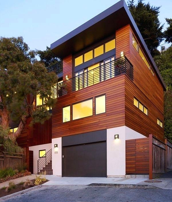 Modern Wood Homes Modern Wooden House Design With Original Shape ...