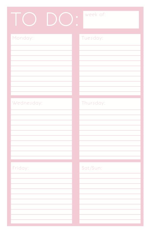 Printable Things To Do List | Printable: To Do List on Behance ...
