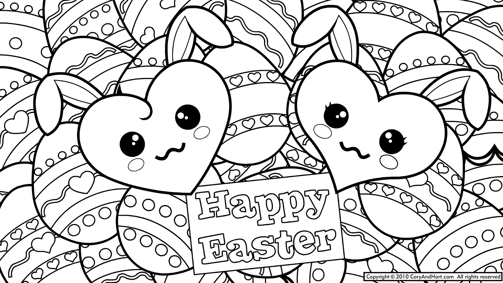 Mosaic Coloring Pages To Print | Easter coloring pages Printable 5 ...