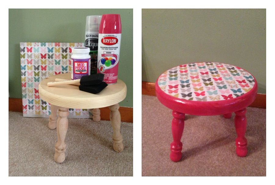 Kid S Step Stool Diy You Will Need Unfinished Wooden Stool