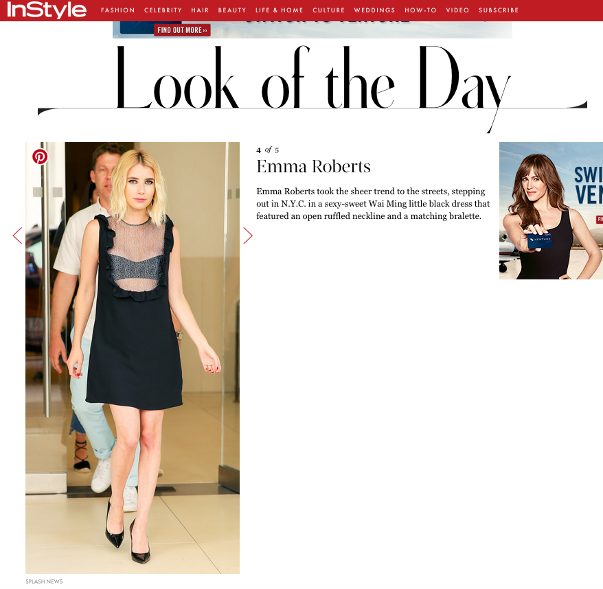 Emma Roberts | Tripp Dress | Late Night with Seth Meyers | Wai Ming