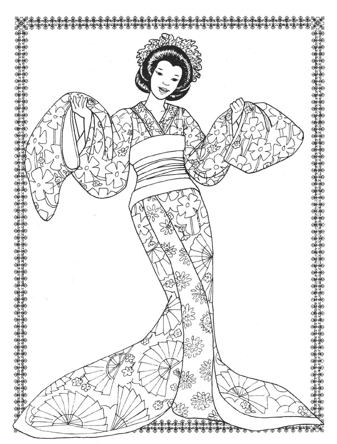 Dancers Coloring Book Costumes For Coloring Coloring Pages To Print